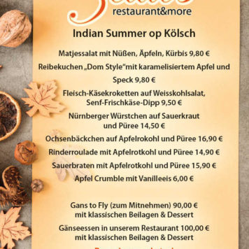 Speisekarte Restaurant Zeitlos Dormagen Indian Summer