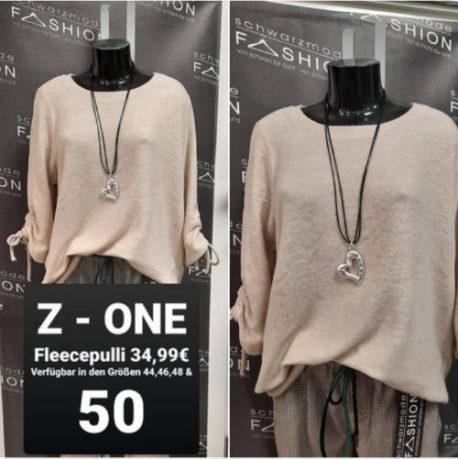 Fleecepulli, Z-ONE, Dormagen, Schwarzmode Fashion