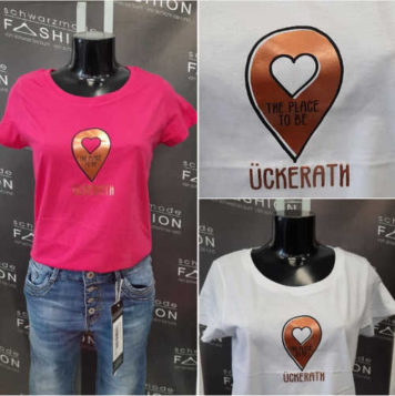 T-Shirt Dormagen Ückerath the Place to be - Schwarzmode Fashion 0